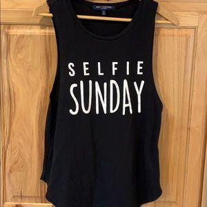 Selfie Sunday tank